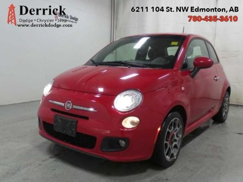 Pre-Owned 2015 Fiat 500 2 Dr. Sport Pwr Grp Memory Seats A/C $67.40 B/W