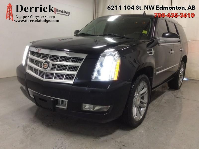 Pre-Owned 2013 Cadillac Escalade Used 4WD Platinum Head Rst DVD Sunroof Nav 326 B/W